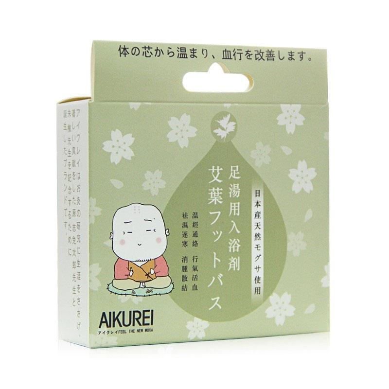 日本驱寒足浴包艾叶粉包益母草老姜泡脚包艾草包可反复使用3袋装