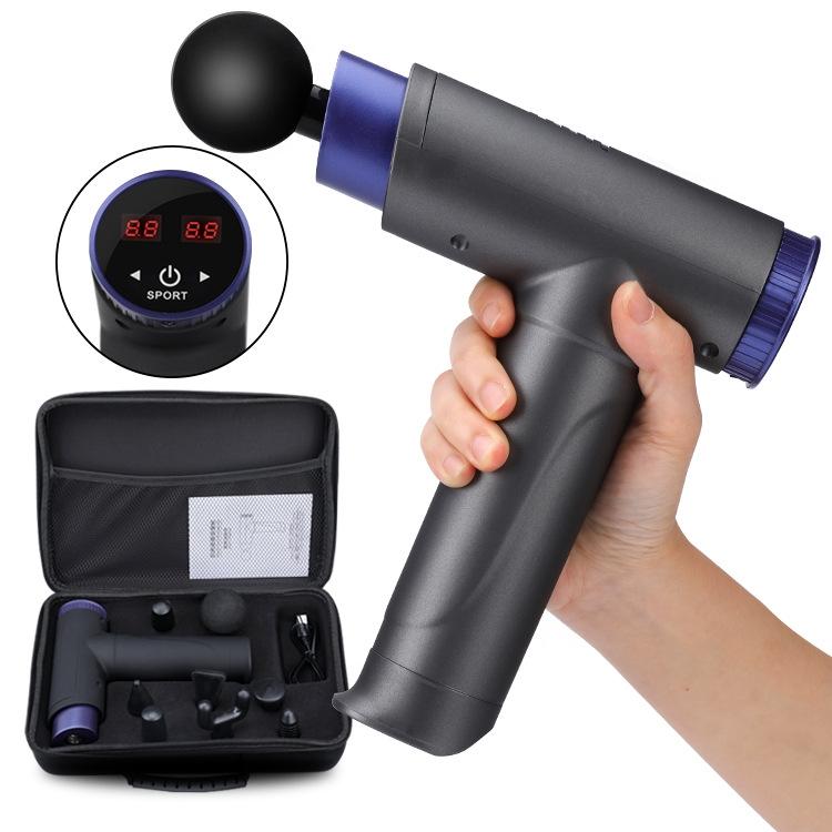 跨境筋膜枪健身电动冲击枪肌肉放松器按摩器小型震动放松仪按摩枪